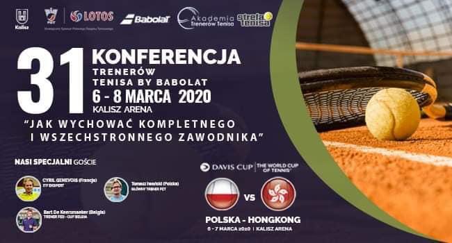 31. Konferencja Trenerów Tenisa by Babolat, 6-8 marca, Kalisz