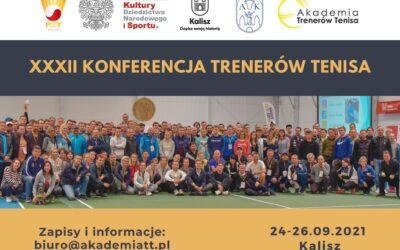 XXXII Konferencja Trenerów Tenisa by Babolat – Kalisz, 24-26 września 2021 r.